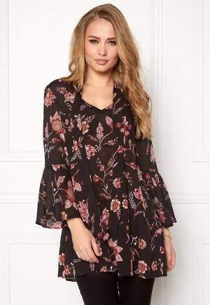 Happy Holly Ellie tunic Black / Patterned 40/42