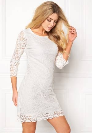 Happy Holly Lina lace dress Offwhite 42