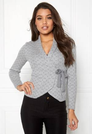 Happy Holly Mona cardigan Grey melange / Offwhite 32/34