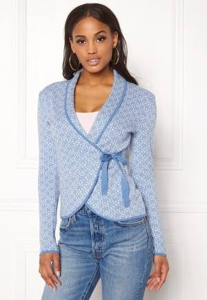 Happy Holly Mona cardigan Light blue / Offwhite 40/42