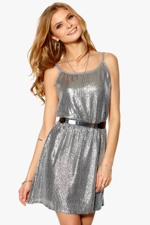 Rut & Circle Glam Deep Back Dress 355 Rock Grey 34