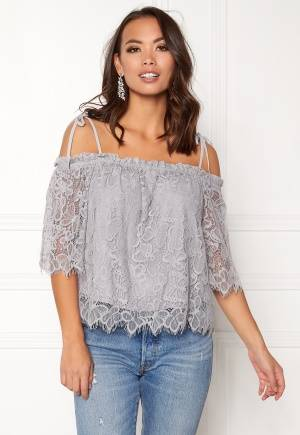 New Look Butterfly Lace Tie Strap Pale Grey S (UK10)