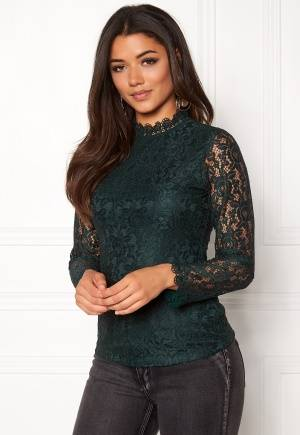 DRY LAKE Mysticus Blouse Dark Green Lace S