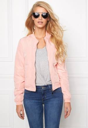Mixed from Italy Front Zip Bomber Jacket Pink L (UK14)