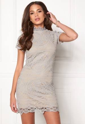 Girl In Mind Lace Dress Grey L (UK14)