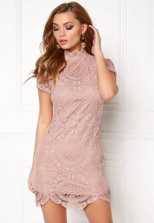 Girl In Mind Lace Dress Mauve S (UK10)