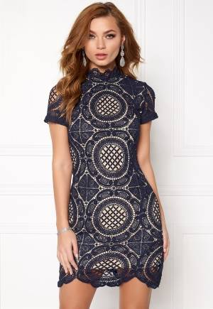 Girl In Mind Lace Dress Navy M (UK12)
