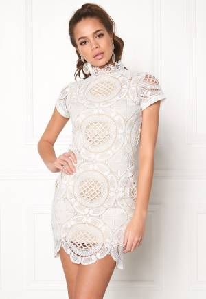 Girl In Mind Lace Dress White L (UK14)