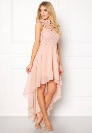 Girl In Mind Midi Lace Dress Pink XS (UK8)