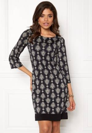 Happy Holly Belicia dress Black / Offwhite 32/34L