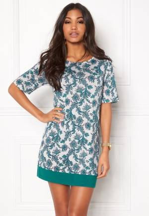 Happy Holly Belicia dress Winter white / Patterned 40/42L