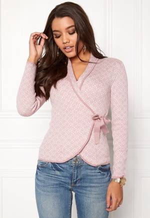 Happy Holly Mona cardigan Light pink / Offwhite 48/50