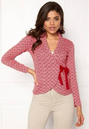 Happy Holly Mona cardigan Red / Offwhite 32/34