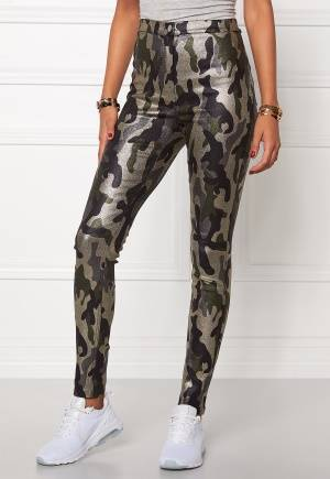 Mixed from Italy Glitter Camo Jeggings Army Camo XS (UK8)