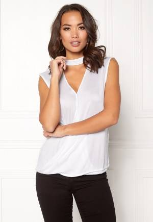 Rut & Circle Nadie Choker Wrap Top White M