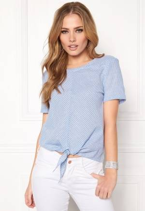 OBJECT Cecilia s/s Top Chambray Blue 34