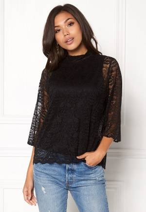 OBJECT LACEY 3/4 Top Black L