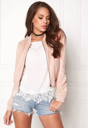 ONLY Saloon Faux Suede Cameo Rose XL