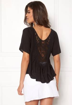 Rut & Circle Bella Lace Back Top Black S (36)