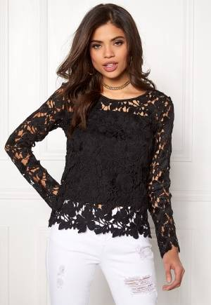 Rut & Circle Benita Lace Top 001 Black 34