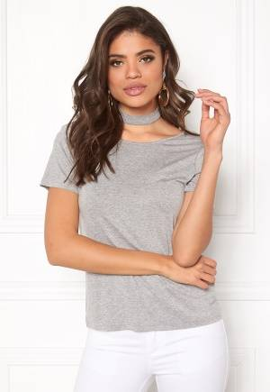 Rut & Circle Choker Strap Top Grey M (38)