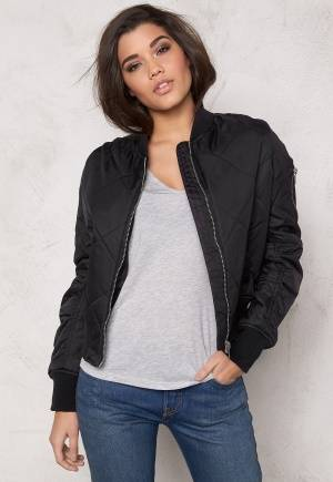 Rut & Circle Kate Quilt Bomber Jacket Black 40
