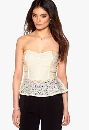 Rut & Circle Lacy Peplum Top 003 Creme 34