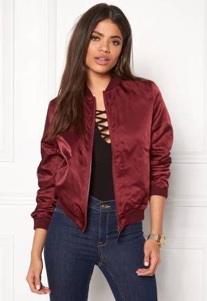 Rut & Circle Linda Bomber Jacket Bordeaux 36