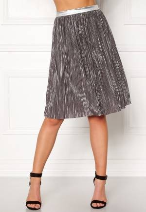 Rut & Circle Nina Pleat Skirt Silver M