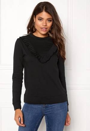 Rut & Circle Simone Frill Top Black M
