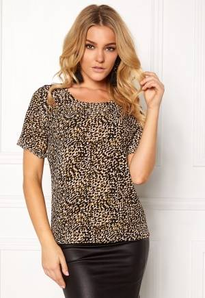 Rut & Circle Siri Print Top Black/Sand S
