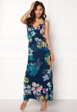 Sisters Point Ems-Dr Dress Navy/Flower XS
