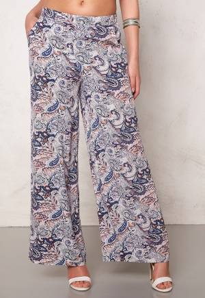 SOAKED IN LUXURY Dora Pant Blue Paisley Print S