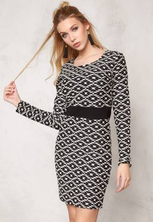 SOAKED IN LUXURY Marion Dress Black/Lily White S