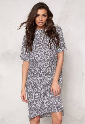 SOAKED IN LUXURY Paisley Dress Black&White Paisley S