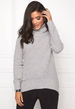 SOAKED IN LUXURY Pearl Pullover Light Grey Melange XL