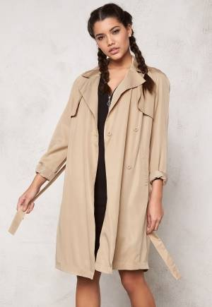 SOAKED IN LUXURY Perone Trench Coat Camel M
