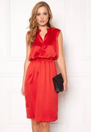 SOAKED IN LUXURY Portia Dress High Risk Red S