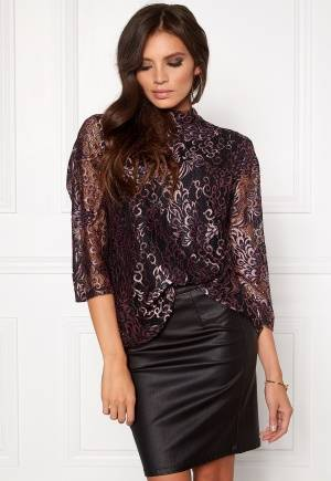 SOAKED IN LUXURY Rachelle Top 3/4 Peacock Lace M