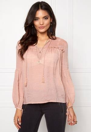 SOAKED IN LUXURY Sherry Blouse Powder M