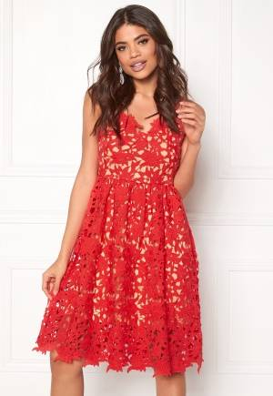 VERO MODA Beauti s/l Lace Dress Hibiscus 36