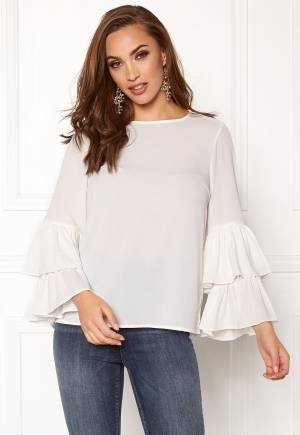 VERO MODA Dellie LS Top Snow White M