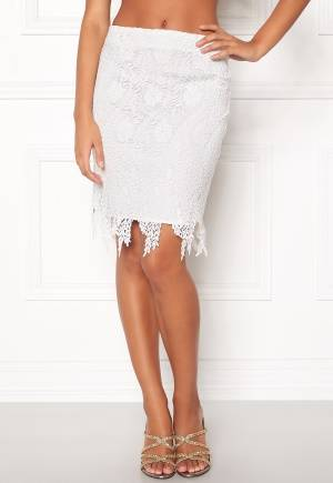 VERO MODA Flora hw Lace Skirt Snow White XS