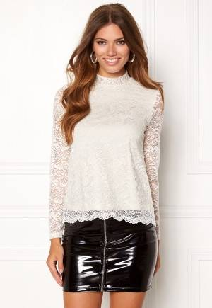 VERO MODA Freja Lace High Neck Top Eggnog XL