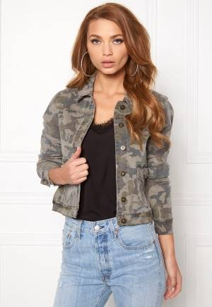 VERO MODA Mora ls Denim Jacket Ivy Green L