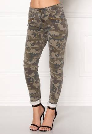 VERO MODA Seven Super Slim Camo Dark Green Denim M/32