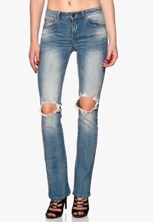 VILA Chill 5p Skinny Bootcut Medium Blue Denim 30/34
