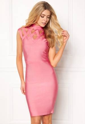 WOW COUTURE Caged Cap Sleeve Shaping Salmon S