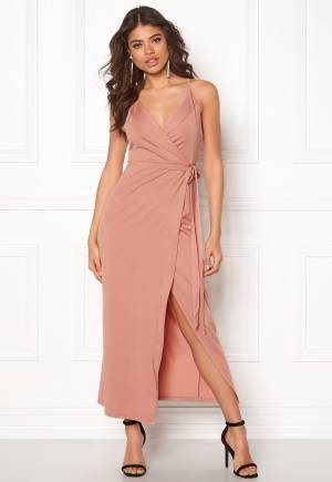 WYLDR Wrap Over Me Dress Dusty rose L