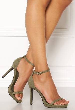 AX Paris Barely There Sandals Khaki Suede 38